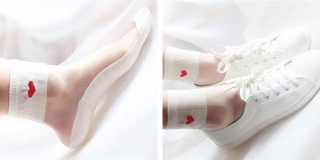 Полупрозрачные носки
