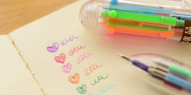 Многоцветная ручка