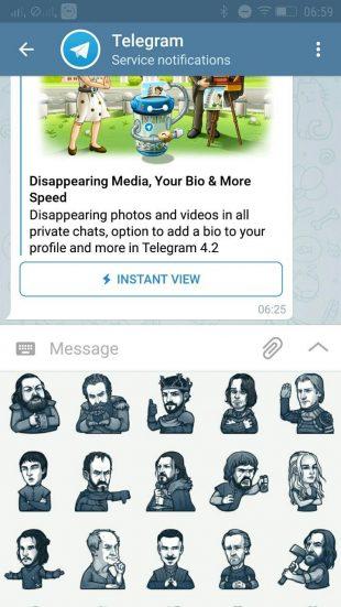 telegram: стикеры
