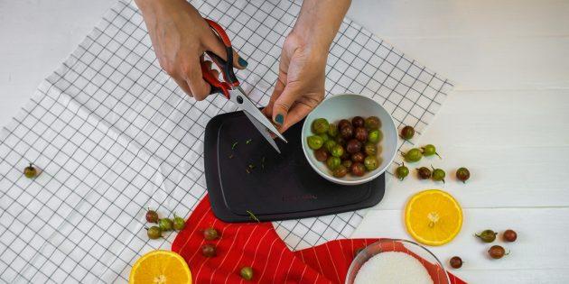 Варенье из крыжовника с апельсином: подготовьте ягоды