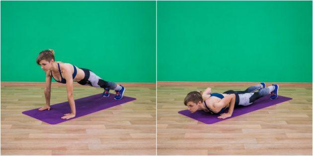 эффективные упражнения: Отжимания