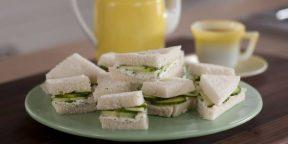 Как приготовить британский сэндвич с огурцом