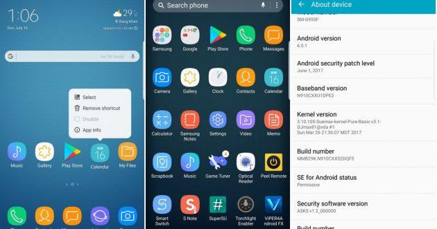 TouchWiz Sams, чистый андроид