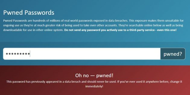 Pwned Passwords