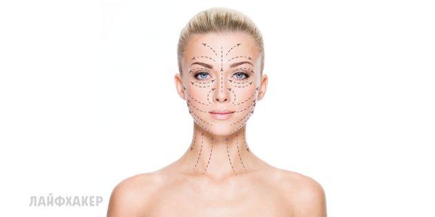 Где искать массажные линии лица и шеи
