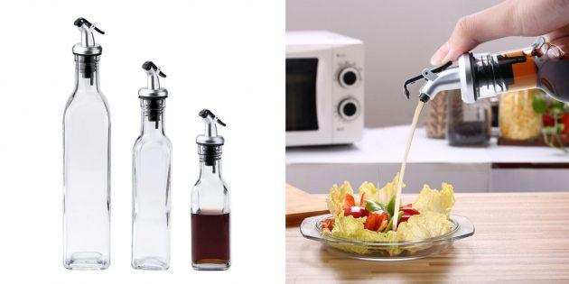Бутылки для масла, уксуса и соевого соуса