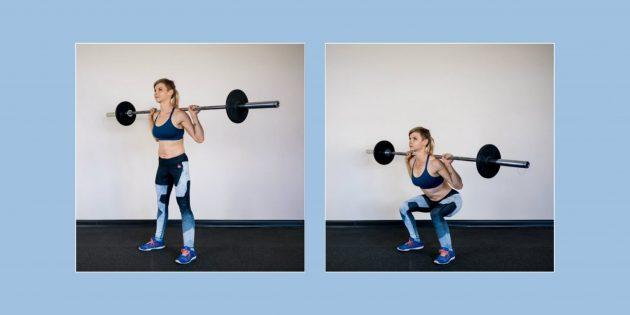 Как делать приседания, если болят колени и спина