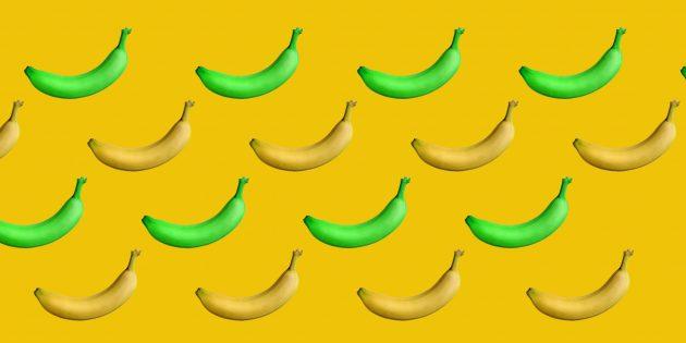 Какие бананы полезнее: зелёные или жёлтые