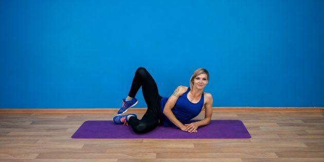 ягодичные мышцы: подъём согнутой ноги