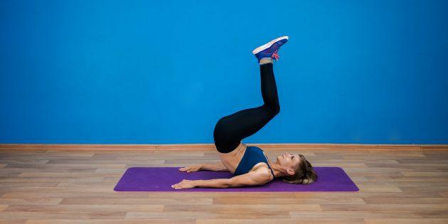 Программа тренировок на неделю: Подъём ног лёжа