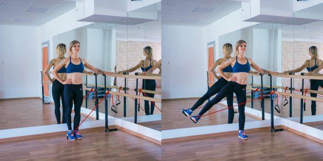 ягодичные мышцы: отведение ноги