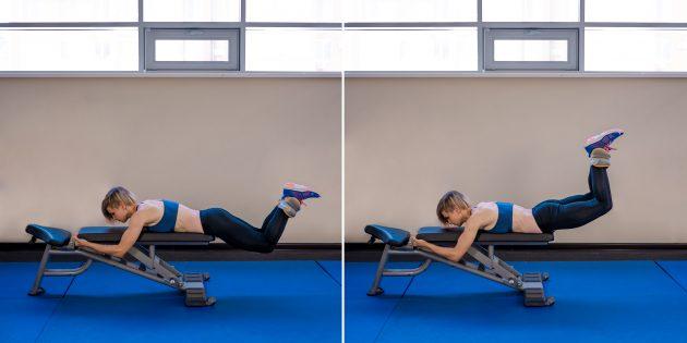 ягодичные мышцы: подъём ног с утяжелением