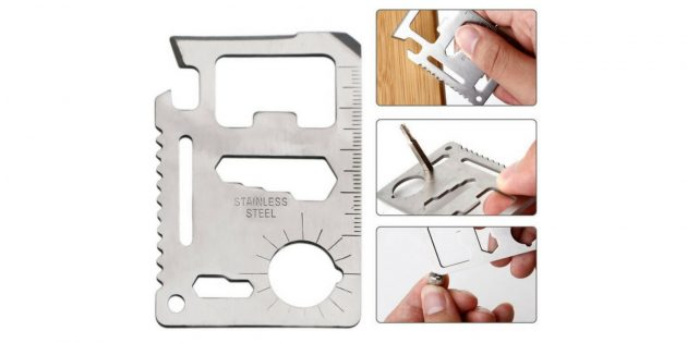 Card Style Stainless Steel Multifunctional EDC Tool