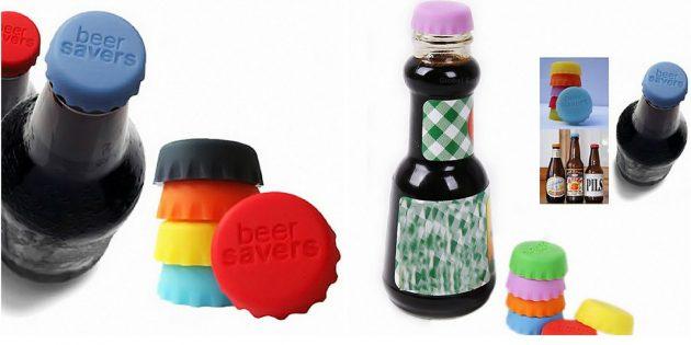 Силиконовые бутылочные крышки
