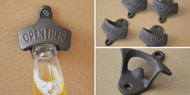 Настенная открывалка для бутылок