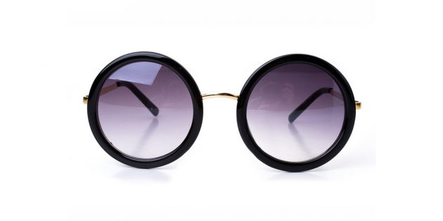 Солнцезащитные очки с круглой оправой