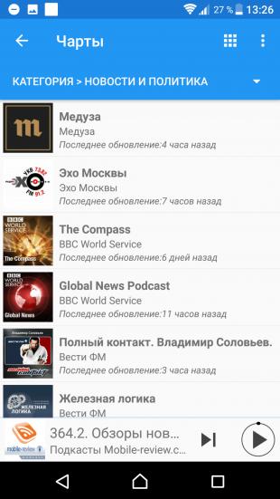 Podcast Republic: прослушивание