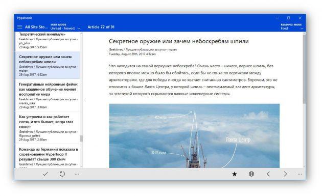 RSS-агрегаторы: Hypersonic