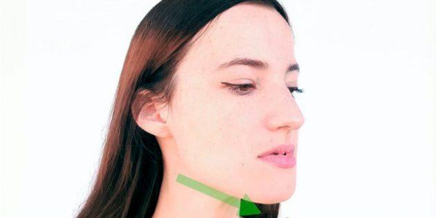 Как убрать щёки: Растяжка мышц подбородка