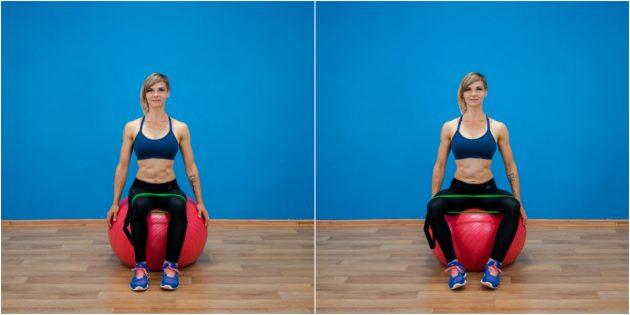 ягодичные мышцы: разведение ног