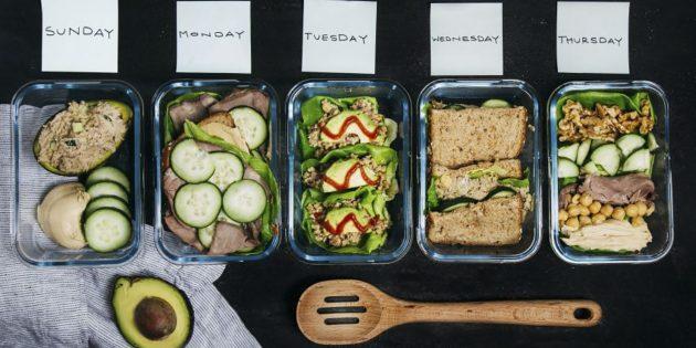 Как приготовить обеды в офис на неделю вперёд: 5 блюд из 8 ингредиентов