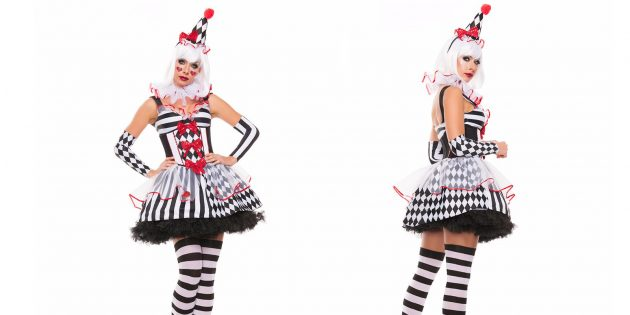 костюмы на Хеллоуин: клоунесса
