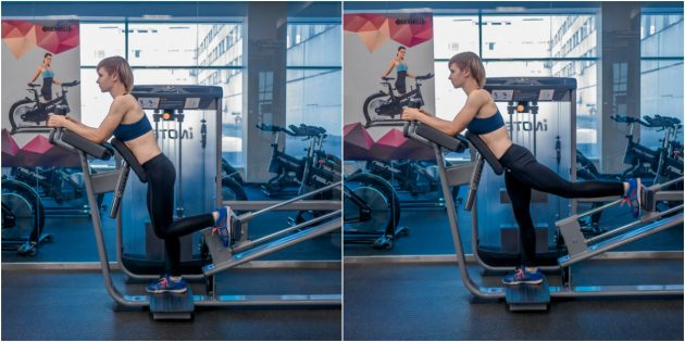 ягодичные мышцы: отведение бедра в тренажёре