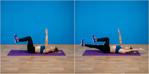 Упражнения при остеохондрозе: «Мёртвый жук»