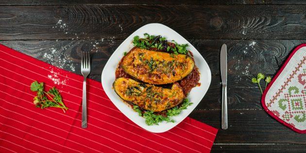 Запечённые баклажаны с мясом: запекайте в духовке до готовности