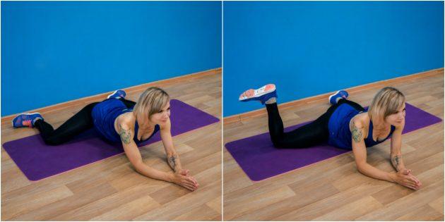 упражнения-филлеры: «лягушка» с вращением голеней наружу