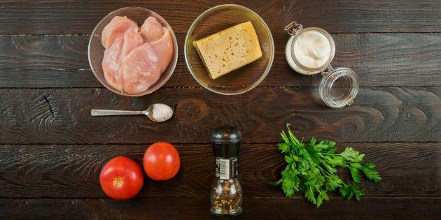 отбивная из куриного филе с помидорами: ингредиенты