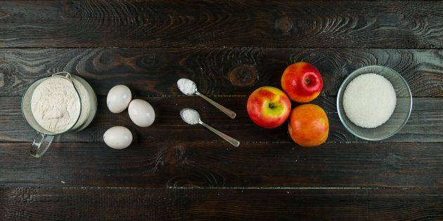 Простая и пышная шарлотка: ингредиенты