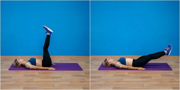 эффективные упражнения: Подъём ног