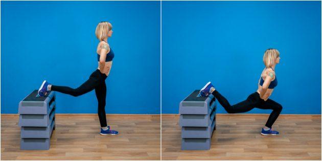 Как похудеть на 5 кг: Сплит-приседания на одной ноге