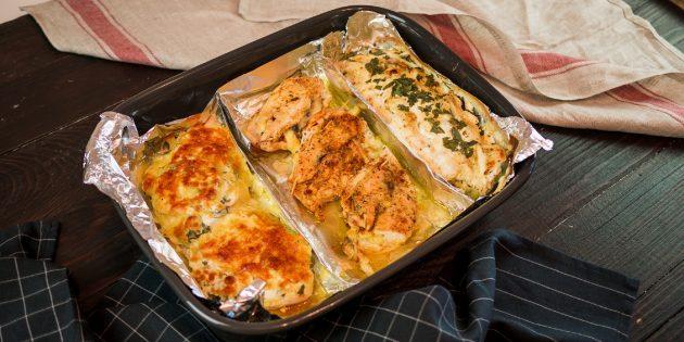 3 блюда из курицы в одном противне