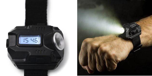 Часы с фонариком