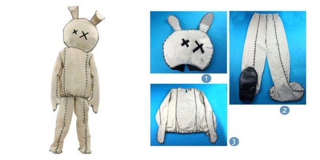 костюмы на Хеллоуин: труп кролика