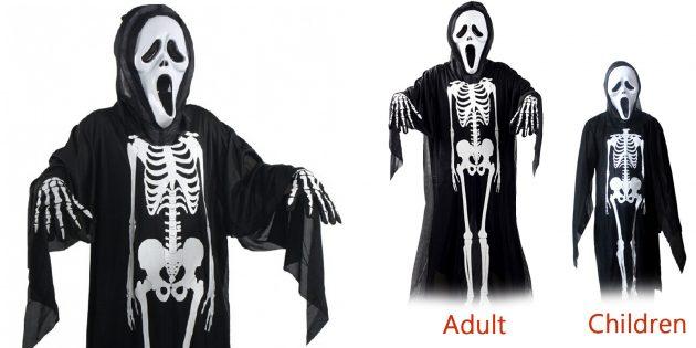 костюмы на Хеллоуин: скелет