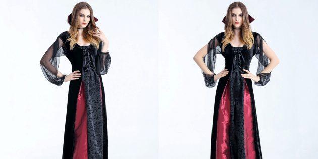 костюмы на Хеллоуин: вампирша