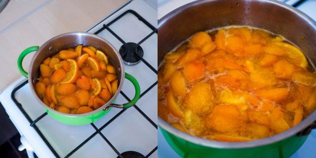 Варенье из абрикосов и апельсинов: поставьте кастрюлю на плиту