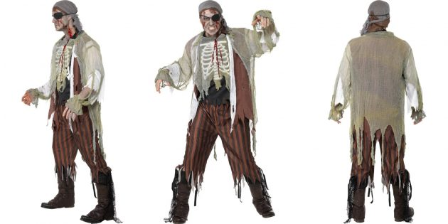 костюмы на Хеллоуин: зомби