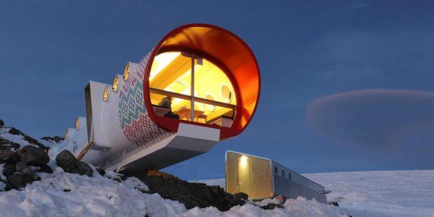 Капсульный отель на Эльбрусе, Россия