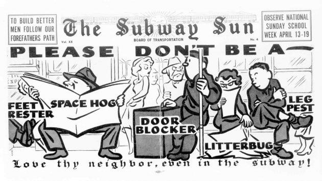 Мэнспрединг: листовки в метро Нью-Йорка