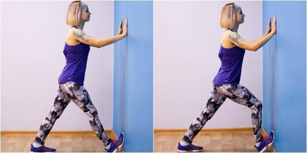 глубокий присед: упражнение на мобильность со стеной