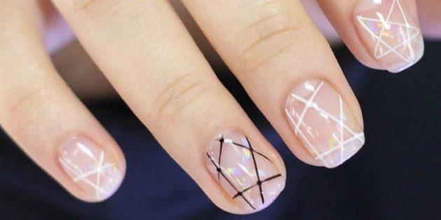 геометрия в дизайне ногтей