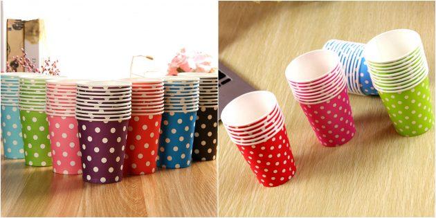 товары для вечеринки: Яркие бумажные стаканчики