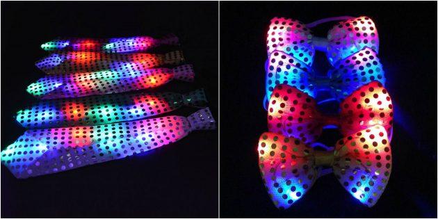 товары для вечеринки: Светящиеся галстуки и бабочки