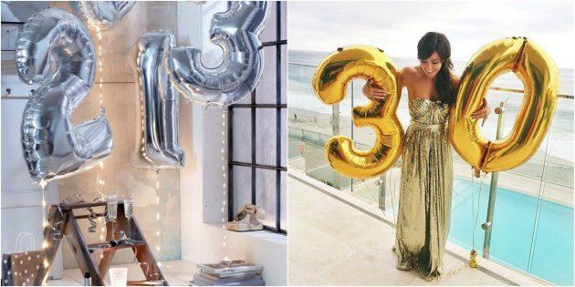 товары для вечеринки: Воздушные шары в виде цифр