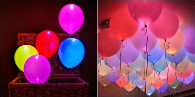 товары для вечеринки: Светящиеся воздушные шары
