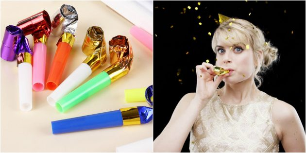 товары для вечеринки: Праздничные свистки